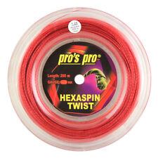 PRO'S PRO hexaspin Twist - 1.25mm - Rosso-TENNIS-string-REEL - 200m