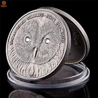 2011 Mongolian Wildlife Strix Uralensis Antique Silver Token Coin Collection