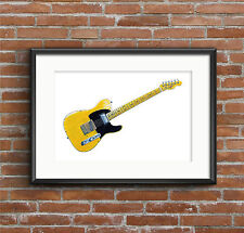 Keith Richards' Fender Telecaster Micawber guitar  POSTER PRINT A1 size