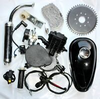 BLACK 50CC 2 Stroke Motorised Bike Gas Motor Engine Kit Motorized Push Bicycle