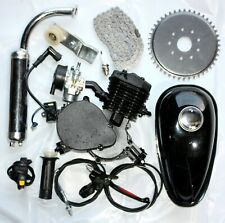 BLACK 80CC 2 Stroke Motorised Bike Gas Motor Engine Kit Motorized Push Bicycle