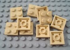 New LEGO Lot of 8 Tan 2x2 Plate Pieces