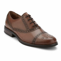 G.H. Bass & Co. Mens Woolf Genuine Leather Classic Cap Toe Lace-up Oxford Shoe