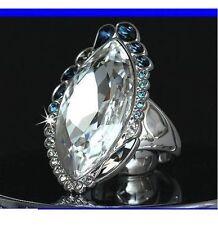 NIB Swarovski PASTEL COCKTAIL ROCK RING 58 8 Large L Crystal Swan Signed 1110441