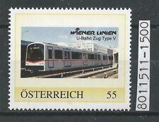 """Österreich PM personalisierte Marke Eisenbahn """"WIEN U-Bahn Zug Type V """"  **"""