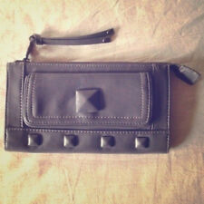 Grey studded wallet purse/clutch. NWOT (Matching bag available) Faux leather