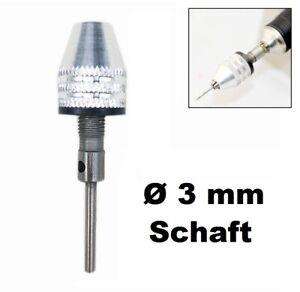 Bohrfutter Spannzange Ø 0,3 - 3,2 mm Spannfutter Dremel Proxxon Adapter Ø 3mm