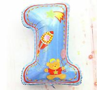 """1ST 74cm 28""""Air or Helium Foil Balloon First Birthday  Boy Girl Decorating Party"""