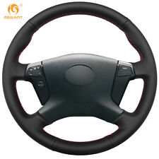 Hand Sewing Black Leather Steering Wheel Cover for Toyota Avensis 2003-2007