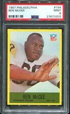 1967 Philadelphia #154 Ben McGee PSA 9 Pittsburgh Steelers Jackson State