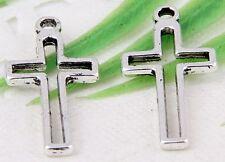 FreeShip30Pcs Tibetan Silver(Lead-Free)Cross Charms Pendants 23x11mm
