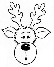 Unmounted Rubber Stamp, Christmas Stamps, Seasonal, Rudolph the Reindeer, Cute