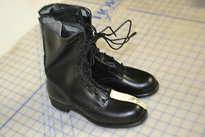 all leather boots work size 6 narrow sole vintage military slick sole vulcan USA