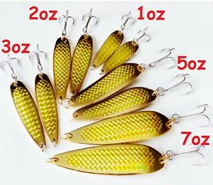 Gold Casting Crocodile Fishing spoons Choose Weight & Pieces 2 to 20