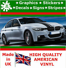 "7"" haute racing stripe autocollant vinyle autocollant voiture camion auto rallye course bmw graphics"