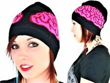 B17 TOO FAST Skull Brains Teen Undead Zombie Walkers Punk Gothic Quality Beanie