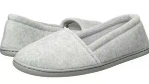 NWT - Dearfoams Womens Memory Foam Closed Back Slipper - Heather Gray - L (9-10)