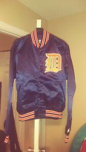 Vintage Detrot Tigers Throwback Satin Starter Jacket Large New! MLB