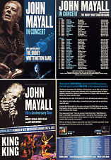 JOHN MAYALL FLYERS X 4 - 2017 TOUR & 80th ANNIVERSARY 2014  - BUDDY WHITTINGTON