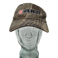 Purina Baseball Cap Hat Embroidered Camouflage Brown OSFM Strap Back