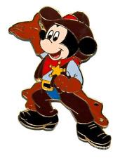 Disney Pin 136 DLRP Paris Sheriff Mickey Cowboy hat chaps gloves red bandana