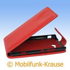 Flip Case Etui Handytasche Tasche Hülle f. Sony Xperia SP (Rot)