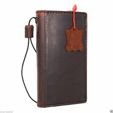 genuine leather case for LG Nexus 5 book wallet slim cover retro cards brown new