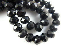 200Pcs Black Crystal Glass Faceted Rondelle Beads 3mm Spacer Jewelry Findings