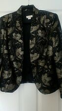 Monsoon black and gold lined jacket size 14