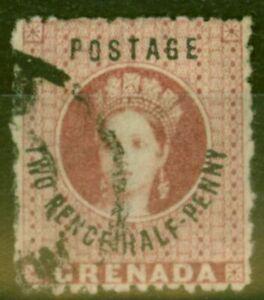 Grenada 1881 2 1/2d Rose-Lake SG22c No Stop Fine Used