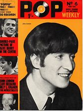 Pop Weekly Magazine 3 October 1964  John Lennon  Cilla Black  Dave Berry Shadows