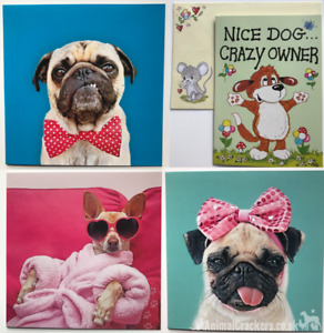 DOG GREETINGS CARD (Free message when buy with gift from AnimalCrackers_UK)
