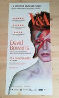 "DAVID BOWIE IS V&A (2014) Original Music Movie Poster 12x27"" ZIGGY STARDUST"