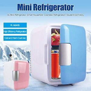 Mini 4L Cosmetic Fridge Makeup Refrigerators Dual-Use for Home Room Car US