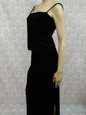 Vintage 90s Black Velvet Maxi Skirt Tank Top Set Womens L 12 Goth Witchy Grunge