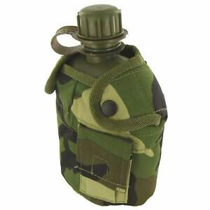 British Army Style Military Patrol Water Bottle Canteen Camo Camping Hiking