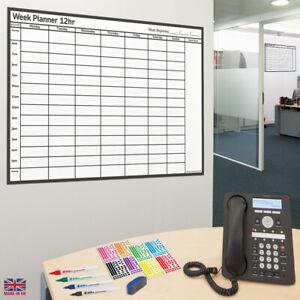 Week Planner LAMINATED Wall Chart ✔12hr✔18hr✔24hr Re-use Every Week & Wipe Clean