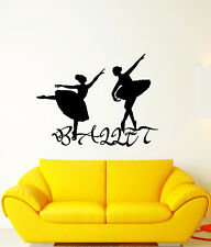 Vinyl Wall Decal Ballet Studio Dancer Ballerina Signboard Stickers (2925ig)