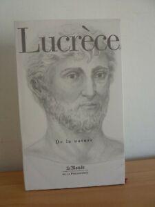 LUCRECE De la Nature *  Le Monde de la philosophie 19