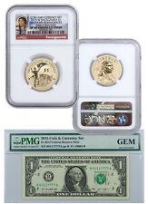 2015 Coin & Currency Set: Enhanced Sacagawea Dollar $1 Note NGC SP69 ER SKU37122