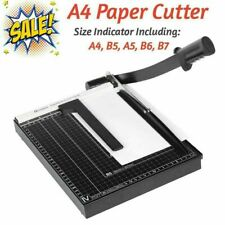 New Listinga4amppaper Cutter Guillotine With Heavy Duty Gridded Base Cut Length 12 Sheetspro