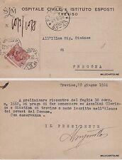 # TREVISO: testatina OSPITALE CIVILE E ISTITUTO ESPOSTI  1924