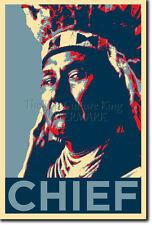 CHIEF JOSEPH ART PHOTO PRINT (OBAMA HOPE PARODY) POSTER NATIVE AMERICAN INDIAN