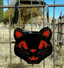 Sweet Midnight Black Red Cat Halloween Gothic Punk Horror Purse Backpack Bag
