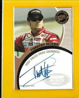 D5256 TIMOTHY PETERS 2007 PRESS PASS SIGNINGS AUTOGRAPH CARD