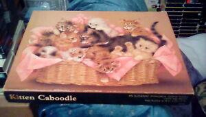"vintage 1980s Springbok Hallmark Jigsaw Puzzle Kitten Caboodle 18 x 23"" (500 pc)"
