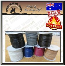 ROUND LEATHER CORD ROLLS 1mm - Thonging of Top Quality Cowhide Leather