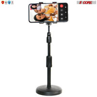 5 Core Mobile Phone Holder Stand Round Base Boom Video Call Conference Portable