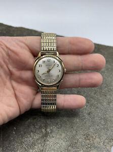 Classy Vintage Benrus Model DR 25 Series #3041 Swiss 17j Mens Watch Runs Great!