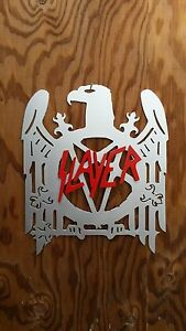 SLAYER sign made from steel